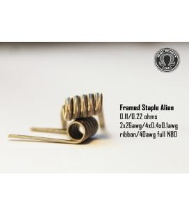 Framed Staple Alien 0.22/0.11 (2 piezas) Bacterio Coil