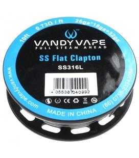 Flat Clapton SS316L Wire - Vandy Vape