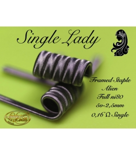 SINGLE LADY - FRAMED STAPLE ALIEN 0.16 SINGLE - LADY COILS