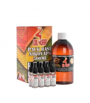 PACK BASE Y NIKOVAPS 1,5mg/ml (TOTAL 500ML) - OIL4VAP
