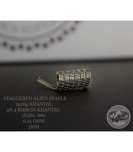 STAGGERED ALIEN STAPLE 0.15 - RICK VAPES