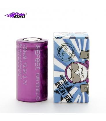 Batería Efest IMR 18350 700mah 10.5A morada