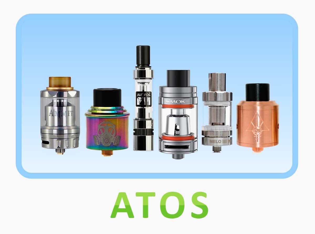 Atomizadores reparables tanto RTA, RBA RDA y claromizadores